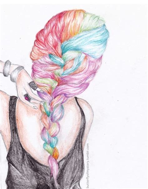 Colors French And Hair Drawings On Pinterest