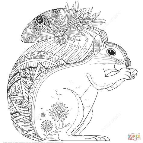 elephant rug coloriage écureuil zentangle coloriages à imprimer