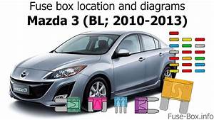 Fuse Box Location And Diagrams  Mazda 3  Bl  2010-2013