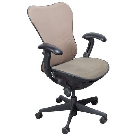 herman miller mirra used mesh task chair cappuccino