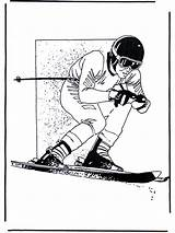 Coloring Pages Skiing Sports Advertisement Funnycoloring sketch template