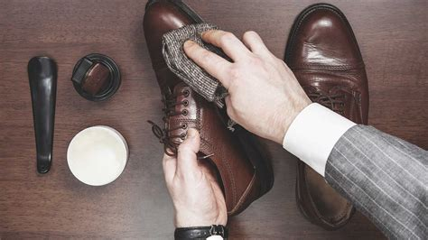 polish  leather shoes