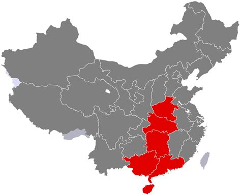 south central china wikipedia