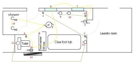 Typical Bathroom Electrical Layout by Bathroom Electrical Layout Ok