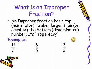 Changing Improper Fractions to Mixed Fractions - ppt video ...