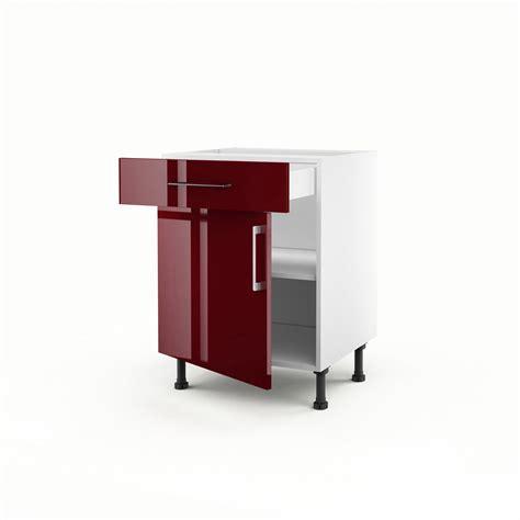 meuble cuisine largeur 55 cm meuble de cuisine bas 1 porte 1 tiroir griotte h