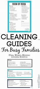 Daily Weekly Monthly Cleaning List With Kids Free