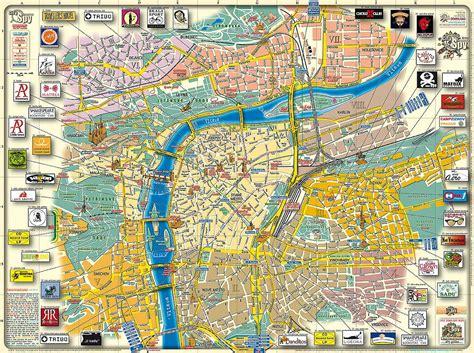 prague tourist map  travel information