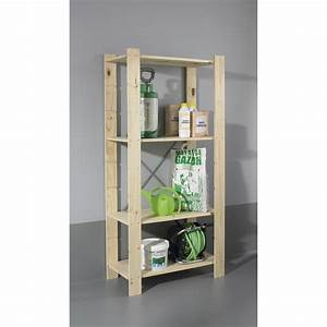 Etagere De Jardin : etag re en pin 4 tablettes mod le spacea l82xh170xp40cm ~ Zukunftsfamilie.com Idées de Décoration