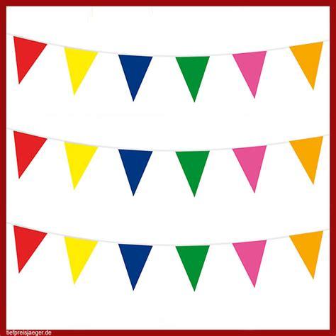 10m Bunte Wimpelkette # Kunststoff Girlande Geburtstag