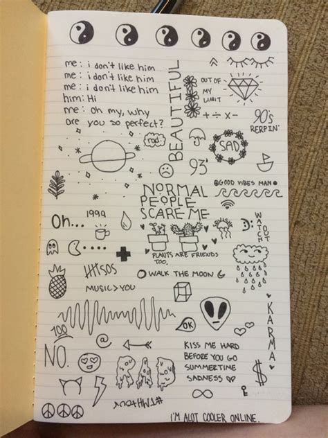 tumblr notebook drawings google search quotes doodle