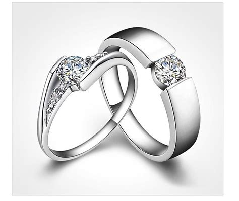 2019 2015 newest sale couples rings 925 sterling silver rings 1 25 ct halo