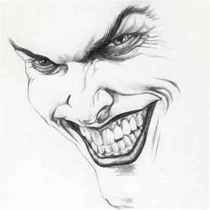 Joker Giphy Drawings Sketch Drawing Easy Pencil