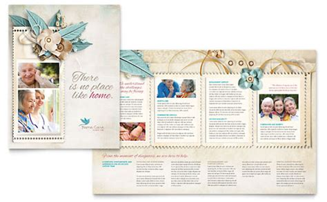 Home Health Care Brochure Templates by Memorial Funeral Program Flyer Ad Template Design