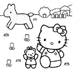 kittie coloring images  kitty