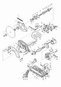 Makita 5104 parts diagram for assembly 1 for Circular saw diagram