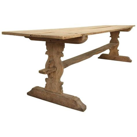 antique l tables sale swedish gustavian long refectory pine trestle dining table