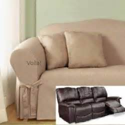 Reclining Sofa Cover by Fabric Recliners Foter