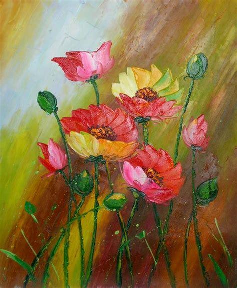 peinture fleurs des chs sur toile tableau huile peint