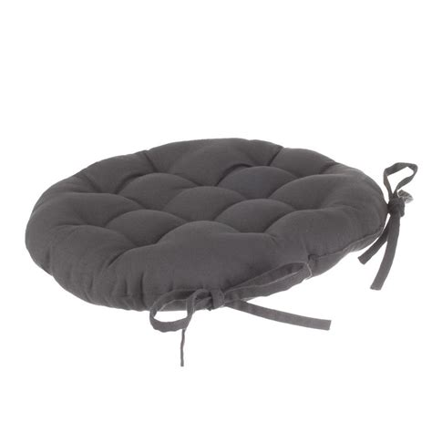 coussin pour chaise ronde coussin de chaise ronde lina anthracite galette et