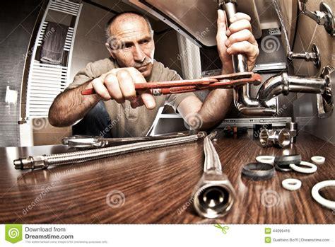plumber  work stock photo image