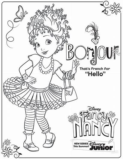 Nancy Fancy Coloring Pages Disney Activity Junior