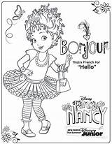 Nancy Fancy Coloring Pages Disney Activity Junior Printable Sheet Printables Bonjour Clancy Sheets Party Books Say Cartoon sketch template