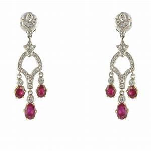 Boite A Boucle D Oreille : boucles d 39 oreilles pendantes rubis et diamants bijouxbaume ~ Teatrodelosmanantiales.com Idées de Décoration