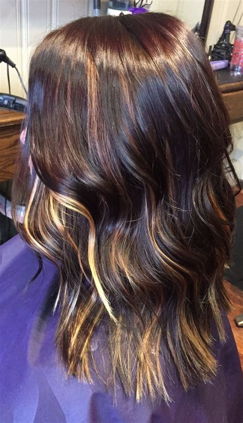 Brown With Hair by 1000 Ideas About Peekaboo Highlights On