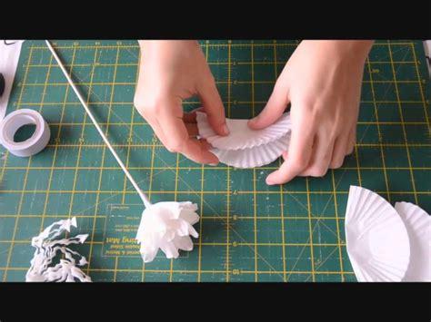 flor con molde de papel youtube