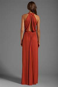 pally kasil dress in burnt orange lyst