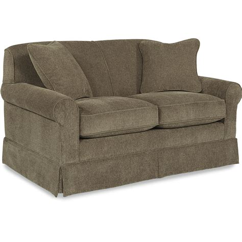 Apartment Sofa Size by La Z Boy Madeline Apartment Size Sofa With Rolled Arms