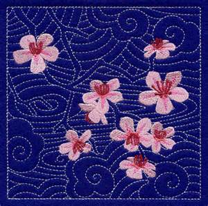 Cherry Blossom Bathroom Decor by Machine Embroidery Designs At Embroidery Library