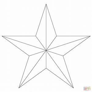 Ausmalbild Fnfzackiger Stern Ausmalbilder Kostenlos