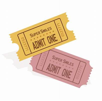 Clipart Ticket Tickets Event Transparent Plain Svg