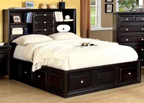 Bed Bookcase by Yorkville Espresso Cal King Platform Bookcase Bed From
