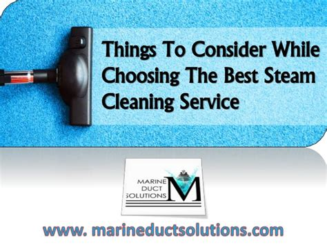 Things To Consider While Choosing The Best Steam Cleaning