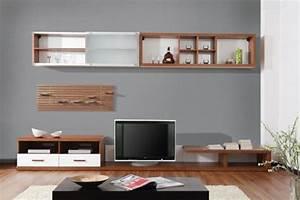Meuble Salon Bois : meuble tele salon accueil design et mobilier ~ Teatrodelosmanantiales.com Idées de Décoration