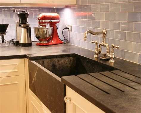 best material for farmhouse sink soapstone sink kitchen design ideas remodels photos