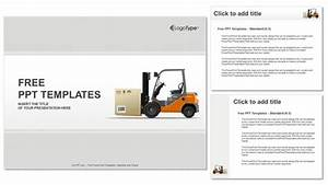 Forklift In A Warehouse PowerPoint Templates