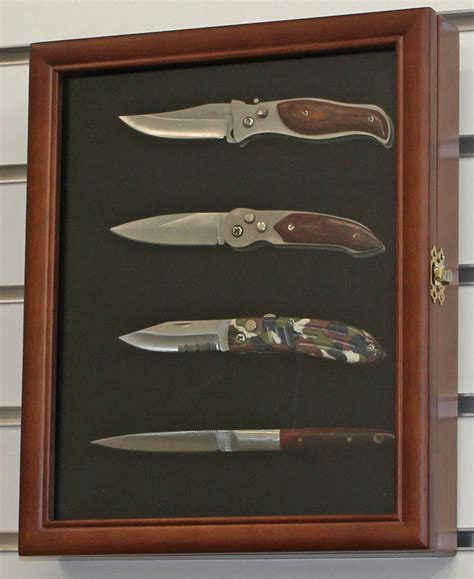 Knife Display Cabinet by Knife Display Shadow Box Wall Mount Glass Door