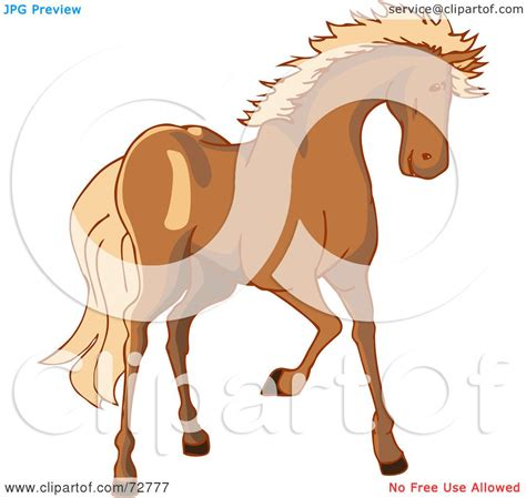 royalty  rf clipart illustration   brown horse