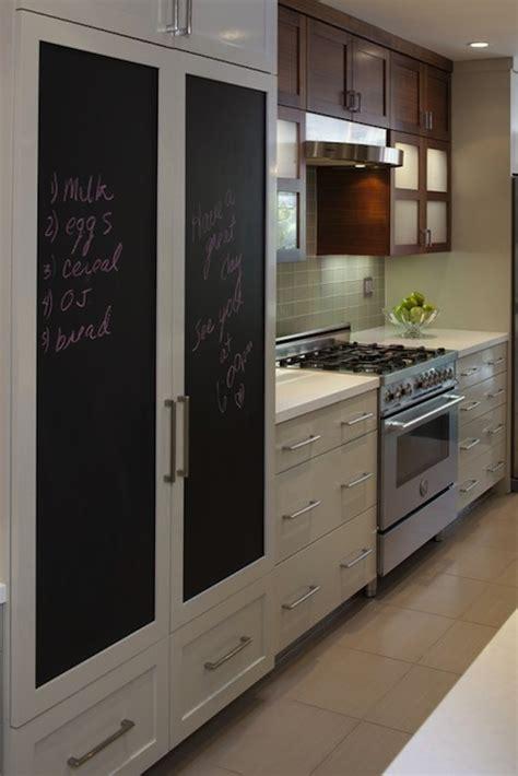 chalkboard refrigerator contemporary kitchen style