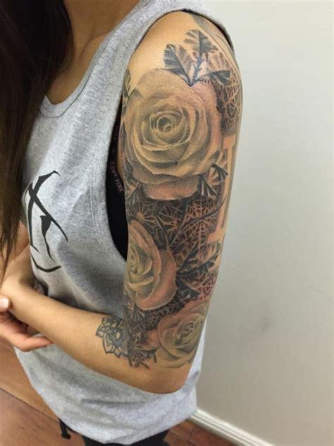 geometric tattoo rose ideas flawssy