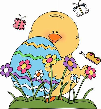 Easter Spring Chick Clip Graphics Flowers Egg