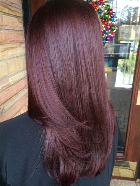 mahogany violet hair color 36 intensely cool mahogany hair color ideas