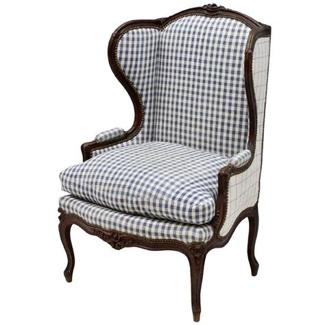 louis xv style oak wing back arm chair on cabriole
