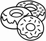 Donut Coloring Yummy Printable Donuts Sheets Cartoon Template Coloringpagesfortoddlers Kawaii Mini Drawings Pdf Breakfast sketch template