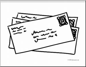 Clip Art: Basic Words: Mail (coloring page) I abcteach.com ...