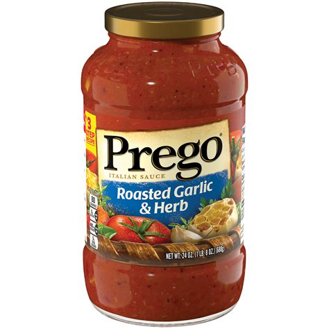 prego roasted garlic herb italian sauce  oz jar food